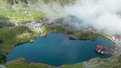 Balea Lake Cabin, Transfagarasan, Fagaras mountains. Romania Timelapse (24fps) Stock Footage