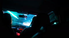 Driving at night Stock Footage