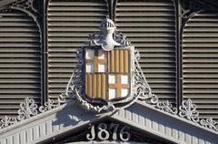 barcelona coat of arms - stock photo