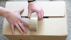 Packing boxes - stock footage
