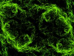 Dancing orbs of energy - stock illustration