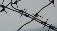 Barbed wire security jails, HD Stock Footage