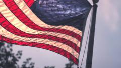 American flag waving in the sun 1080p 24fps Stock Footage
