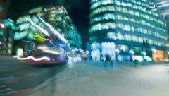 London City Street Level Stock Footage