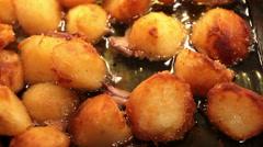 Roast Potatoes Stock Footage