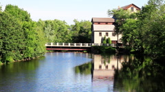 Pump House Bridge Stock Footage