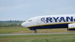 Ryanair side close-up slowmo Stock Footage