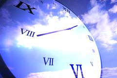 Digitally generated roman numeral clock Stock Illustration