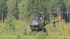 Schweizer 300C helicopter, slowmo Stock Footage
