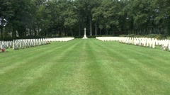 The Arnhem Oosterbeek War Cemetery, Oosterbeek, the Netherlands. Stock Footage