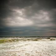 Stormy weather, Atlantic ocean - stock photo