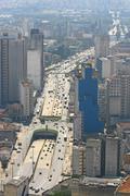 Sao paulo skyline, brazil. Stock Photos