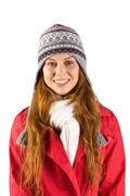 Stock Photo of Pretty redhead in warm clothing