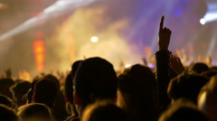 4K Concert crowd at live music festival Stock Footage