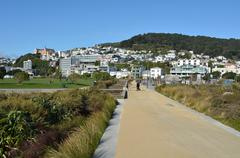 Wellington new zealand cityscape Stock Photos