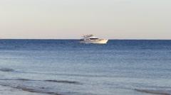 Motor yacht at sea Stock Footage