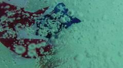 sunk underwater american flag US - stock footage