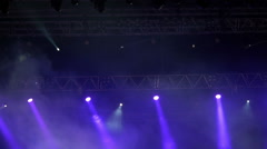 Stage lights at live concert, festival Stock Footage