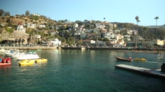 CATALINA ISLAND BEACH AND HOMES Stock Footage