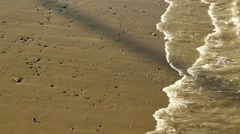 SHORE WATER ON BEACH Stock Footage