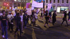Justice protest for Michael Brown Stock Footage