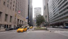 New York City Park Avenue wide street view - stock footage