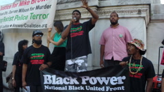 Black Power nationalists want justice! Stock Footage