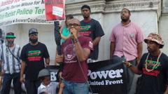 Praise for Ferguson, MO riots  Stock Footage
