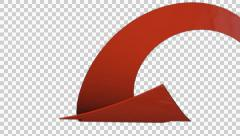 Stock Video Footage of 3D Transparent Arrow ver-01