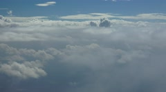 Aerial Puffy Clouds Stock Footage