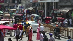 Busy intersection in Amritsar, India 3 Stock Footage