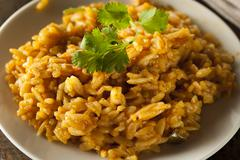 homemade spicy mexican rice - stock photo