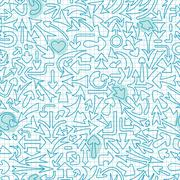 Seamless pattern with different arrows. - stock illustration