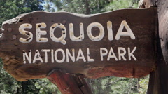 Sequoia National Park Entrance Sign Stock Footage