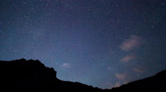 Milky Way in the mountains. Pamir, Tajikistan. 4K Stock Footage