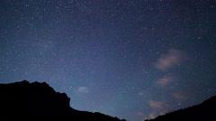 Starry Night. Pamir, Tajikistan. 4K Stock Footage