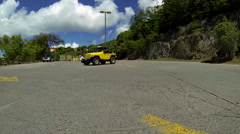 Exploring the city in the virgin islands Stock Footage
