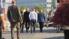Stock Video Footage of Crowd, pedestrians walking in Scandinavia.