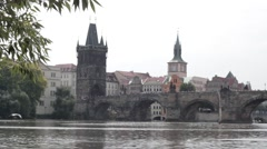 Charles Bridge Stock Footage