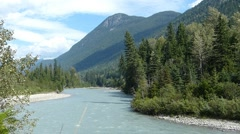 Mountain River Flowing Stock Footage