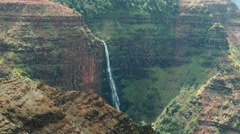 Waipoo Falls in the waimea canyon, Kauai Hawaii Stock Footage