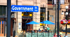 4K Government Street SIgn, Victoria British Columbia, Canada Stock Footage