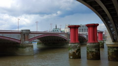 Blackfriars Bridge London Stock Footage