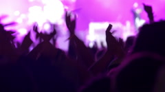 Concert crowd at live music concert, festival - stock footage