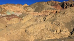 Artists' Palette in Death Valley, California, USA Stock Footage