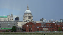 St. Pauls Cathedral London - stock footage