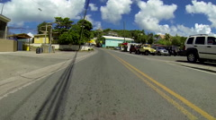 city driving on the virgin islands - stock footage