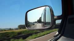 Wing mirror of a car Stock Footage