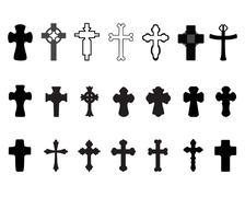 crosses - stock illustration