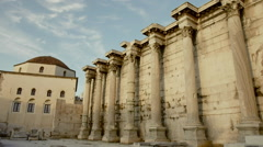 Hadrians Library at Acropolis of Athens Greece 06 Stock Footage